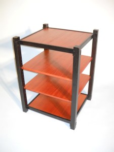 mahogany shelving rack